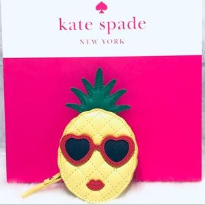 💫New💫KATE SPADE Leather Pineapple Coin Purse✨✨